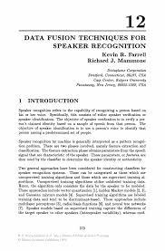 Data fusion Techniques for Speaker Recognition   Springer