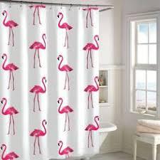 <b>Flamingo</b> Animal Dog Hippo Cat Polyester <b>Pink</b> Shower Curtain ...