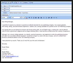 email cover letter format of email cover letter