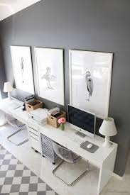 gray and white ikea home office for two art for home office