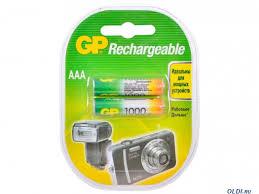 <b>Аккумуляторы GP</b> 2шт, <b>AAA</b>, 1000mAh, NiMH — купить по лучшей ...