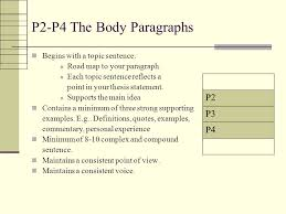 the five paragraph essay structure mapping overall structure of  p p the body paragraphs begins with a topic sentence road map to your