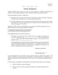 resignation letter format problems guidance resignation letters problems guidance resignation letters for teachers handling procedures recommend basic type contract