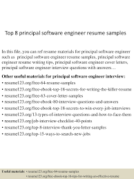 top8principalsoftwareengineerresumesamples 150520132445 lva1 app6892 thumbnail 4 jpg cb 1432128333