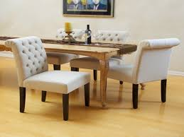 White Dining Room Chairs Dining Room Upholstered Occasional Chair White Leather Dining