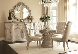glass dining table d carved  round glass dining table top with round beige carving base connected