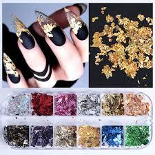 <b>Nail Glitter</b> Sequins <b>Aluminum Irregular</b> Flakes <b>Nail</b> Art Mirror Foil ...
