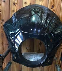 <b>49mm</b> Headlight Fairing Shade Mask W/Trigger Lock Mount Kit For ...