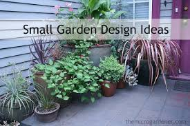 Small Picture SMALL GARDEN DESIGN The Micro Gardener