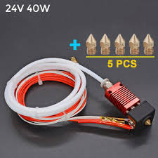 <b>Alfawise</b> U20/U30 Block Heater Hot 24V 40W <b>Extruder MK8</b> +5x ...