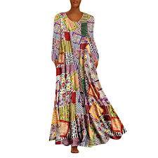 PRINCER <b>Women</b> Two-Piece Maxi Dress Plus Size Patchwork <b>O</b> ...