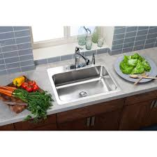 kitchen sink design rectangular elkay innermost perfect drain dual mount stainless steel  in  hole sin