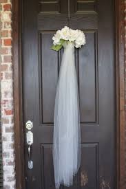 painted front door decor ideas summer bridal shower veil wreath for the front door as guest walk in super cu