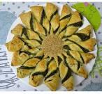 Girasol de hojaldre de espinacas y queso - ConcinaConReceta