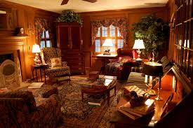 Lodge Living Room Decor Interesting Country Living Room Decorated With Wooden Wall And