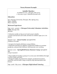 Example Resume For Nanny Job Free Resume Templates Resume Examples Samples Cv