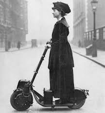 Photographize - Lady Norman on her <b>scooter</b>/Autoped, <b>1916</b> ...