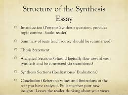 synthesis essay presentation   structure of the synthesis essayintroduction