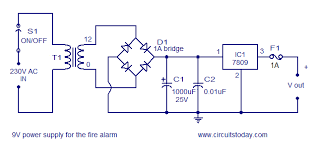 simple fire alarm circuit using ldr 9v power supply