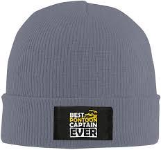 Unisex Stylish Slouch Beanie Hats Black Best <b>Pontoon</b> Captain Ever ...