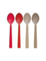 <b>Набор из 4 ложек</b> Enamelled Khaki/Red, 16 см Pip studio 9064256 ...
