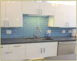 Delighful Kitchen Backsplash Glass Tile Blue Images Of Shoise To Simple Design
