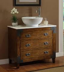 Old Bathroom Sink Adelina 36 Inch All Wood Construction Vessel Sink Bathroom Vanity