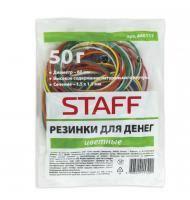 <b>Резинки для денег STAFF</b>, 50 г, цветные, натуральный каучук ...