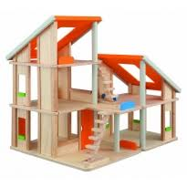 Plan Toys Dolls House  Furniture and other Wooden ToysPlan Toys Chalet Dolls     House