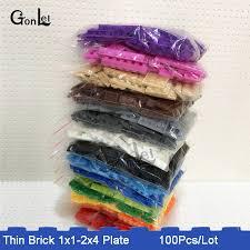 <b>100Pcs</b>/<b>Lot</b> 15 Colors Bulk Building Block Bricks For Kids Toys ...