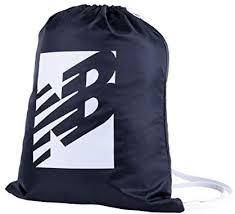 New Balance Logo <b>Cinch Sack</b>/<b>Drawstring Bag</b>, Black/White ...