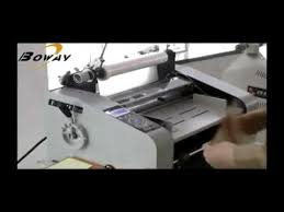 BOWAY Roll Laminator <b>BW</b>-F350,F650 Demo - YouTube