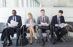 tips for attending a college job fair waiting for a job interview