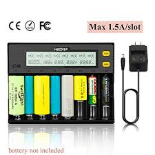 MiBOXER Rechargeable Battery Charger 8 Bay LCD ... - Amazon.com