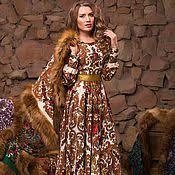 Купить или заказать Платье футляр с отделкой из ...