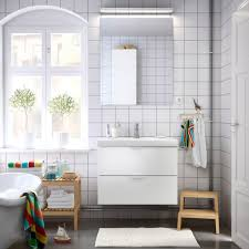 washstand bathroom pine: a bathroom with a white wash stand mirror and benches in solid