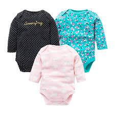 3Pcs/Lot Newborn <b>Baby Bodysuits</b> Set <b>100</b>% <b>Cotton Baby</b> Boys Girls ...