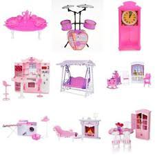 doll house miniature furniture accessory pretend play set for barbie kelly dolls barbie furniture for dollhouse