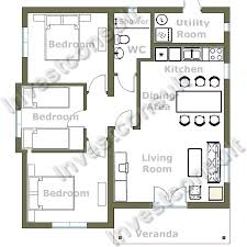 Impressive Small Three Bedroom House Plans   Small Bedroom    Impressive Small Three Bedroom House Plans   Small Bedroom House Floor Plans