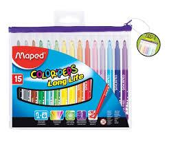 "<b>Фломастеры Maped</b> ""<b>Color</b>'<b>peps</b>"", 15 цветов — купить в интернет ..."