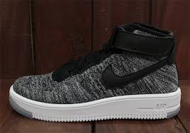 fans of the oreo colorway originated by the nike flyknit racer can rejoice in the fact that the upcoming nike air force 1 mid flyknit will have two air force 1 nike