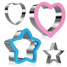 Ertek <b>4Pcs</b> Kitchen Craft Star Cutter Heart Shaped Pastry Cutters ...