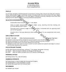 cv examples cv example of recent graduate recent graduate resume samples