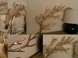 tree scene metal wall art: wall art designs wall art sculpture rare vintage bijan brass tree