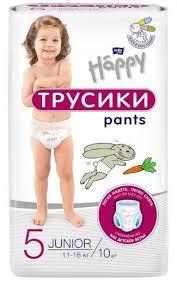 <b>Подгузники</b>-<b>трусики Bella Baby Happy</b> Pants Junior (11-18кг), 10шт.