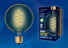 <b>Лампа</b> светодиодная филаментная (ul-00001818) <b>uniel e27 4w</b> ...