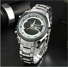 <b>STRYVE Brand Men</b> LED Quartz Clock Military Watch 3ATM ...
