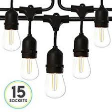 <b>ISRAMP</b> Outdoor String Lights Dimmable, Pro-Waterproof 4W <b>LED</b> ...