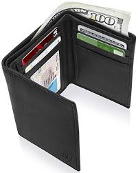 <b>Genuine Leather</b> Wallets For <b>Men</b> - <b>Trifold Mens</b> Wallet With ID ...