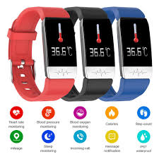 <b>T1 Smart Watch</b> Body Temperature Heart Rate Monitor Fitness ...